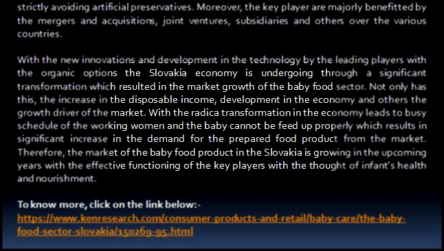 Slovakia Baby Food Sector Market Leading Players, Market Segmentation-Ken Research