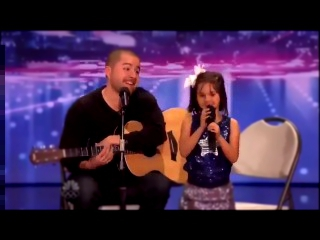 Видеоклип к песне - Home: папа и дочка поют. Father Jorge And Daughter Alexa Narvaez Sing Home -- America's Got Talent